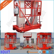 Trailing aerial work platform hydraulic aluminum alloy lift