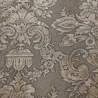 2016 hot sale embossed European style foaming damask non-woven wallpaper