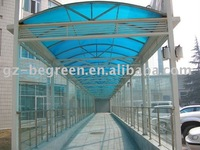 Engineering case of polycarbonate sheet,and PC hollow sheet&PC solid sheet, plastic roofing panel