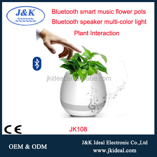 JK108 Christmas gifts Smart Bluetooth 3.0 Music Flower pots for Relax in Office or Home