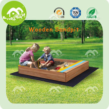 sand pit,wooden sandbox,2kids one sandbox