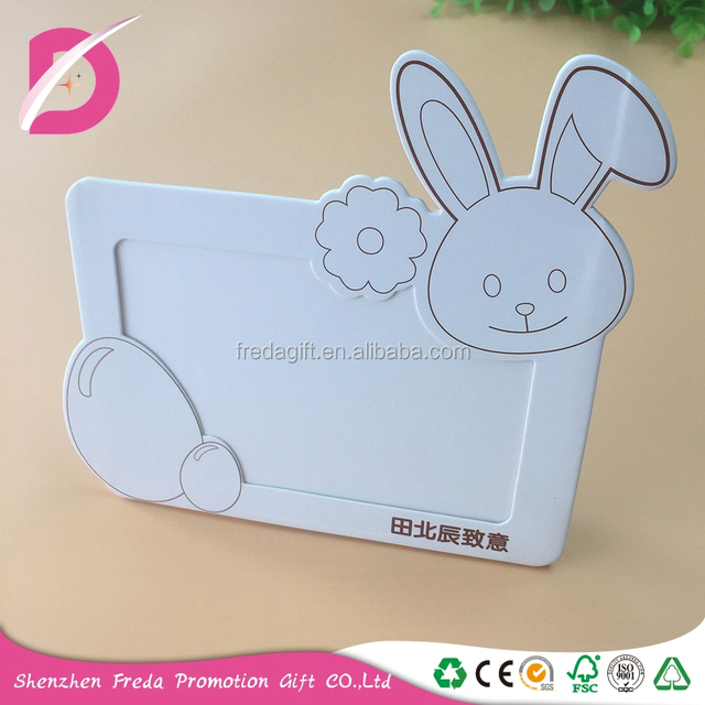 Export quality standing handmade paper photo frames little rabbit gifts
