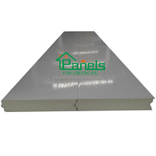 Fireproof Heat insulation polyurethane PU sandwich roof panel for store / build 5000t tomato cold storage room