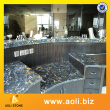 Black Marble Cultured Marble Bar Tops and Marble Wall Tiles