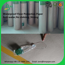 Cheap temporary and recycled floor protection paper in home decor