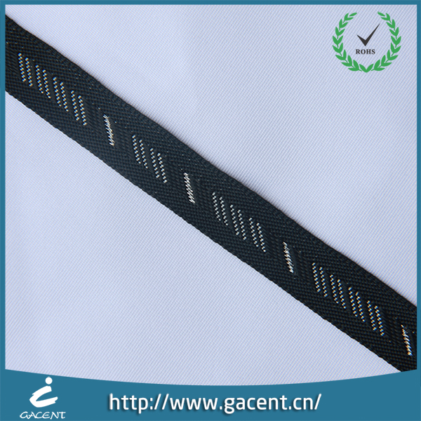 Non elastic clothing woven webbing with jacquard pattern