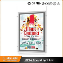 Edgelight CF2A picture frames double sided acrylic material and rectangle shape light box