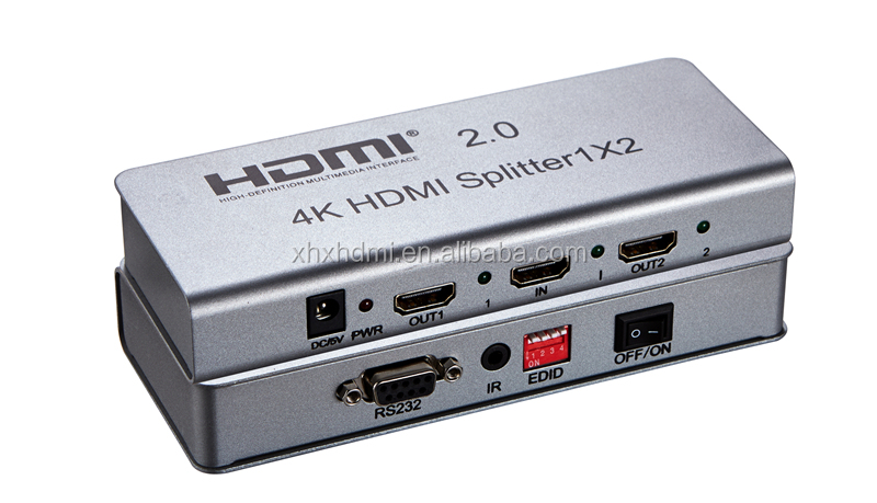 HDMI Splitter 1x2 2.0V 1 input 2 output HDMI Switcher
