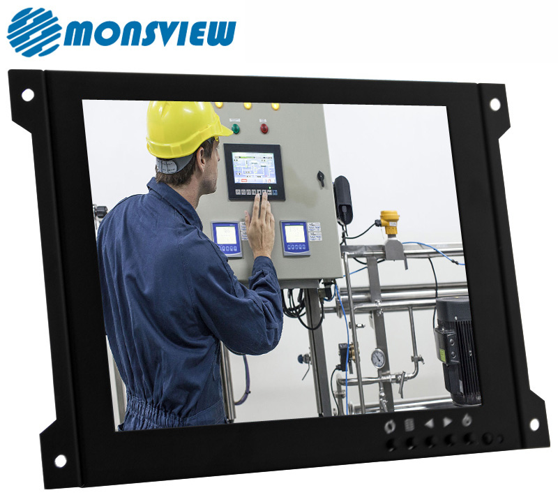 Controller Board Open Metal Frame 7 inch Industrial LCD Monitor