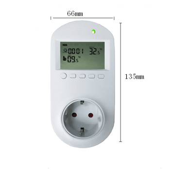 24 hours programmable Plug In socket thermostat with CE and RoHS certificate