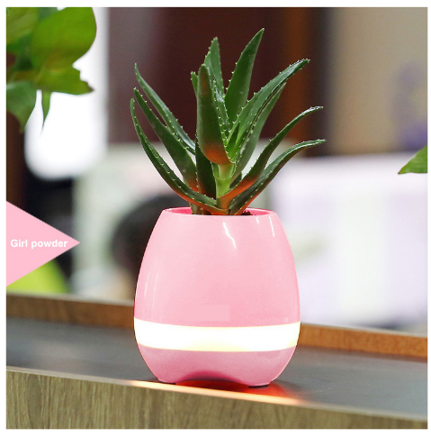 2017 Smart speakers bluetooth wireless Music Flower Pot Planter Office Desk Decor