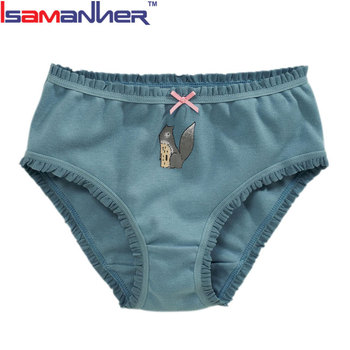 Best quality 100% organic cute cartoon kids panties children underwear