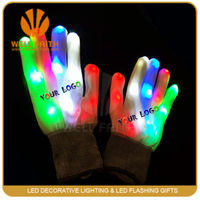Party Supplies Flashing White Cotton Hand Gloves,Comfortable White Led Lighting Party Gloves,Elegant Party Decorations