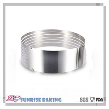 Baking tools adjustable round cake ring stainless steel 12 inch mousse cake mold slicer