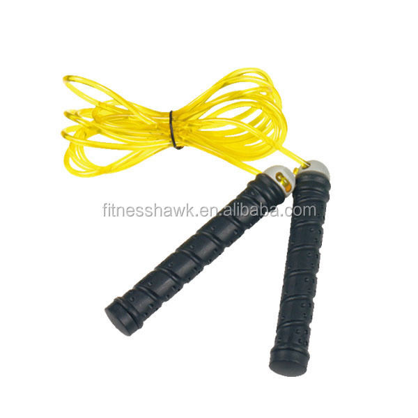 High quality PVC jump rope with knobbed PP handle
