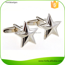 High Quality Five Star Military General Cufflinks with Gift Box