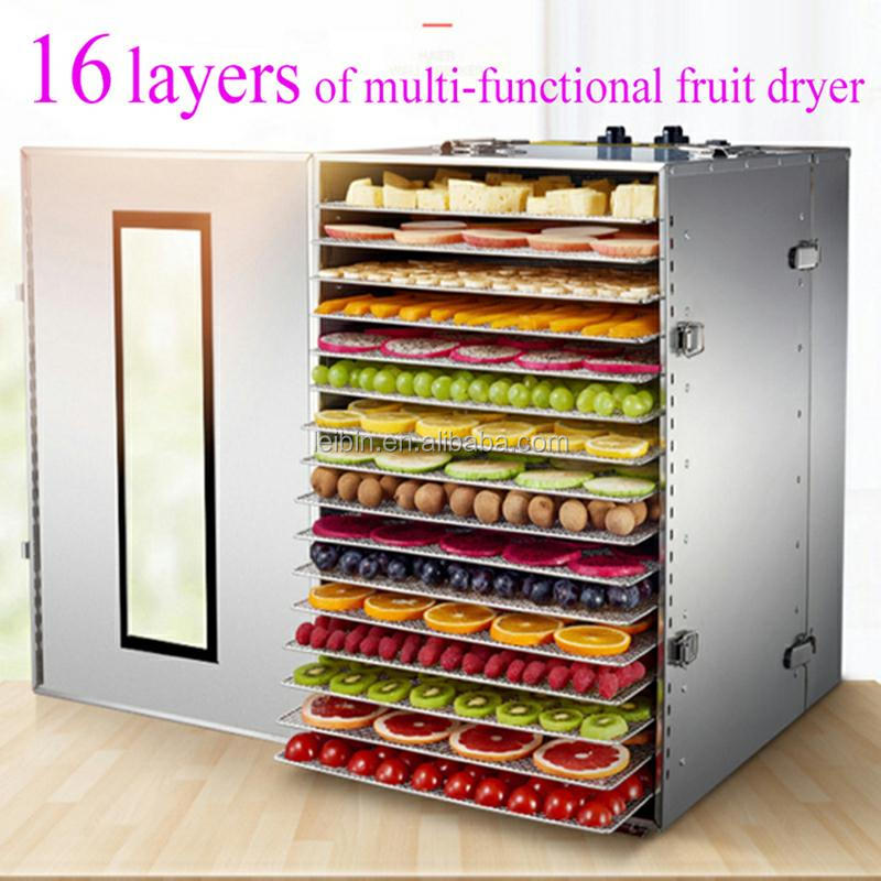 16 Racks Stainless Steel Commercial Electric Food Dehydrator