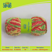 China factory hot sale polyester rug yarn for knitting