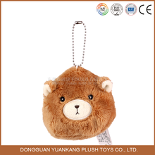 2016 Cute Bear Style Plush Stuffed Animal Keychain Toys