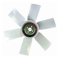 plastic fan blade cooling for excavator