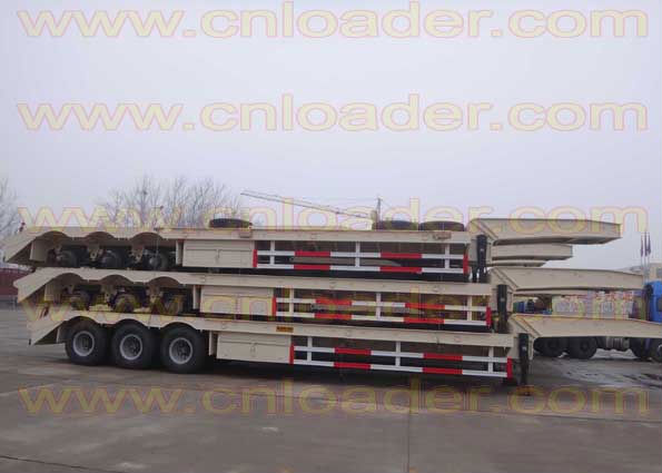 best selling China 2012 brand new low bed trailer , semi remolque de cama baja