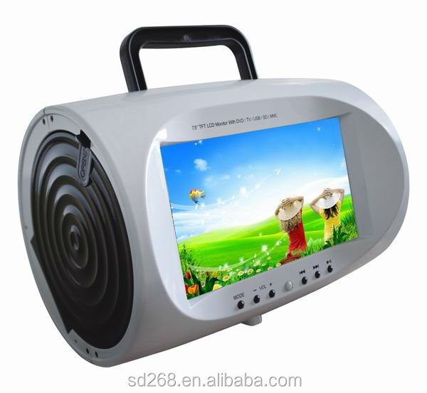 Mini 7.5 inch portable dvd player with MP3/4/5