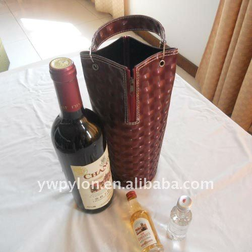 leather wine glass carrier box,can custom logo printed wine boxes