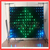 HOT WLK-1P18 Black fireproof Velvet cloth RGB 3 in 1 led curtain backdrop led vision curtain dj booth