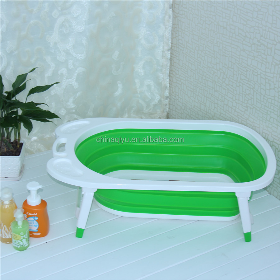 New Portable plastic folding Baby bathtub foldable baby bathing tub