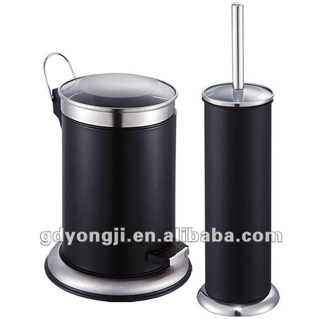 LB-TGH3L-NC DUST BIN & TOILET BRUSH WITH GLASS COVER