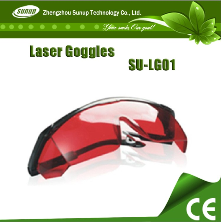Laser Goggle can absorb UV laser in teeth whitening// high quality professional design red eye protector with OEM