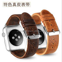 Luxury Genuine Leather Strap For Apple Watch Band Loop 38mm / 42mm With Adapter icarer