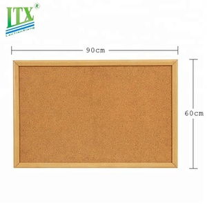 Customized design office school wooden frame cork sheet, massage bulletin cork board