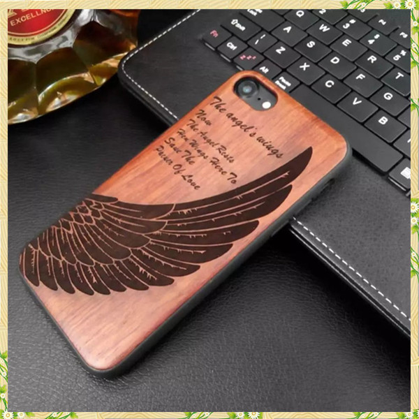 Natural handmade wood logs cell phone case for iphone 7