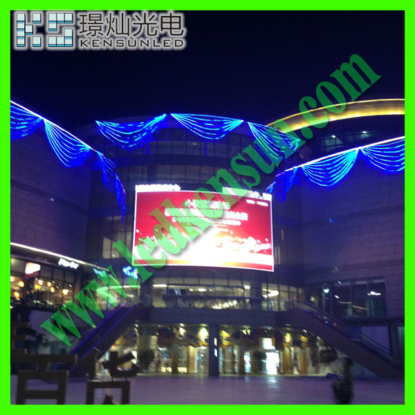 Energy saving full color HD LED video display screen humid pillars