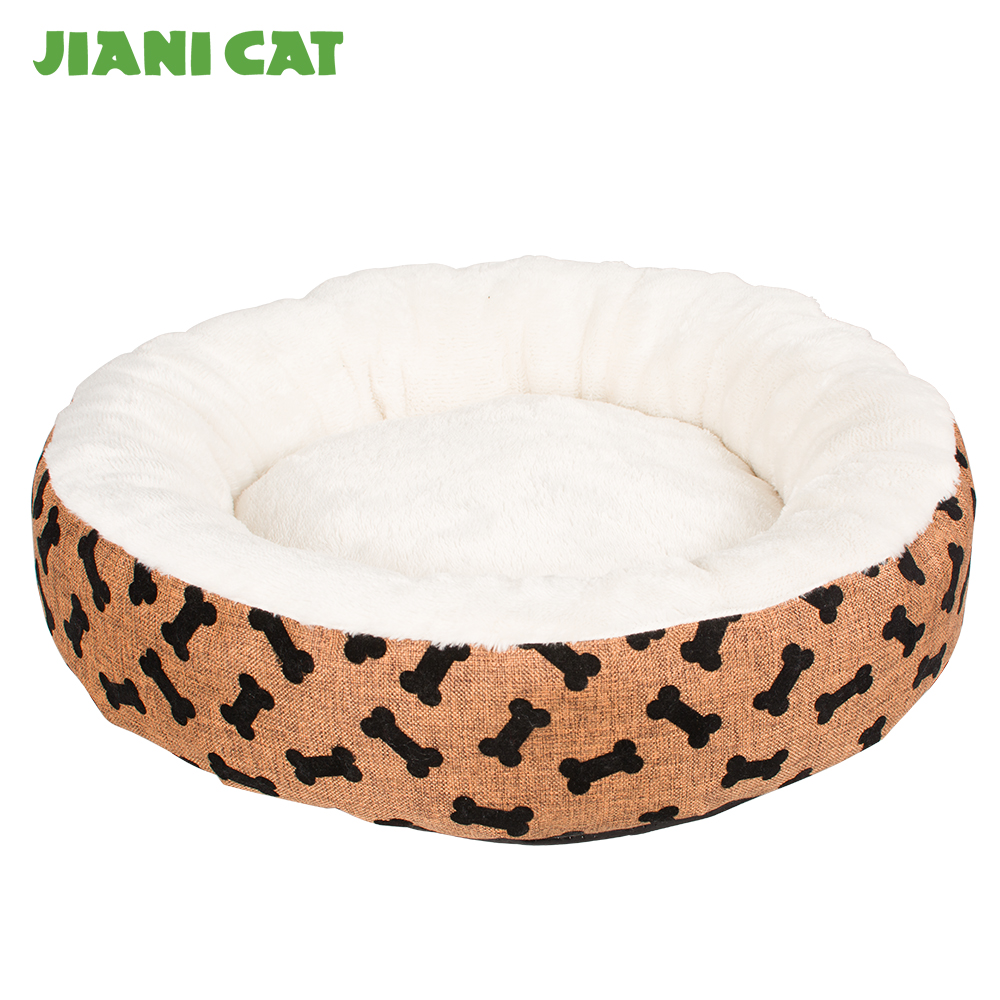 best sale new luxury plush linen cat bed
