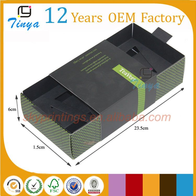 Paper Material and Accpet Custom order cardboard tea box design