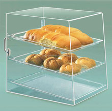 Clear bakery stand for bread acrylic cake bakery showcase bread store dessert display stand