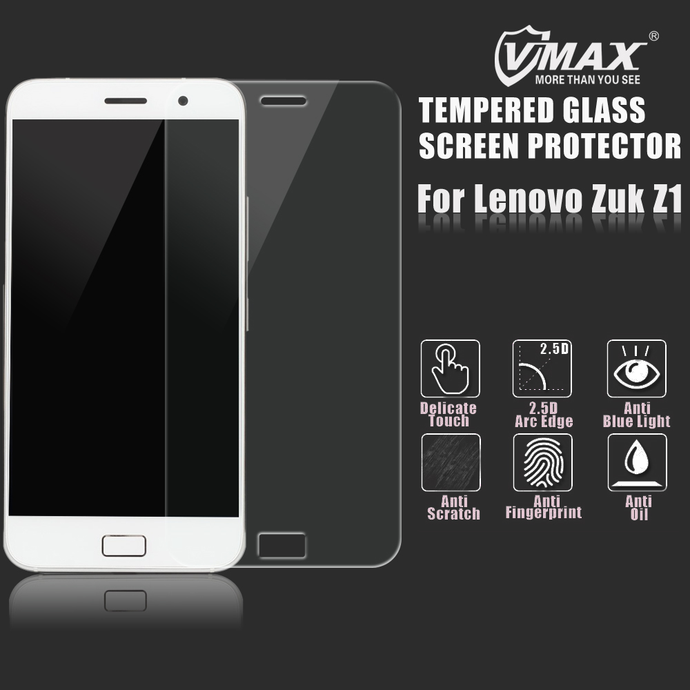 Newest! Factory price mobile phone 0.2mm/0.3mm Tempered Glass Screen protector / film for Lenovo Zuk Z1