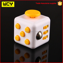 2017 trending wholesale 3D magic cube stress release fidget desk toy puzzle cube fidget cube