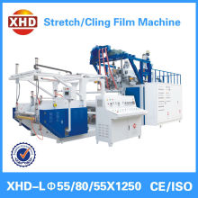 Co-extrusion three layer cast stretch film manufacturing machine