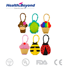 Promotional gift OEM cartoon mini bulk hand sanitizer cute hand sanitizer with silicon holder