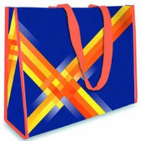 Printed pp waterproof colourful non woven shopping bag
