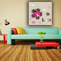 Cartoon style new insect picture house kids decor canvas painting