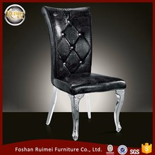 Make In China Living Room High Back New Design Stainless Steel black dining chairs