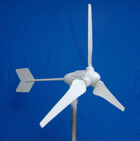 100W Low start speed mini wind power generator, mini wind generator for small home to take fan, tv and lights