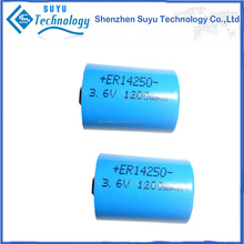 ICR 14250 rechargeable battery 3.6V 1200mah