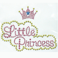 Little Princess rhinestone transfer design for tee
