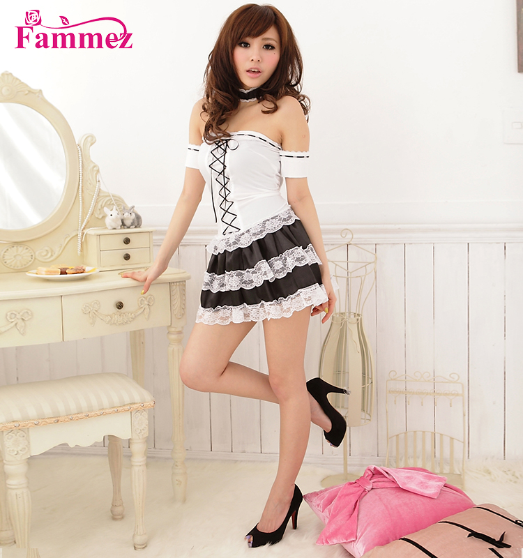Fammez sexy naughty philippines french maid costume maid uniform for sale