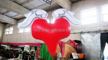 2015 hot selling inflatable large heart balloon with led light